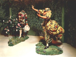 Jardin d'Amour: The Pursuit, by Yinka Shonibare MBE (2007)