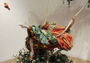 'The Swing (after Fragonard)' (2001), by Yinka Shonibare MBE. Purchased by the Tate in 2001. Catalogue Ref. T07952.
