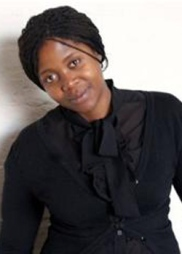 Photograph of South African artist Mary Sibande.