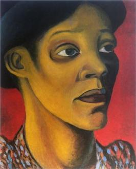Portrait of Mrs M D Sekoto, by Gerard Sekoto (1947).
