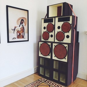 Sound System displayed at Somerset House.