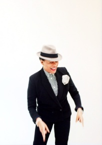 Portrait of the singer Pauline Black, from the 2-Tone band The Selecter.