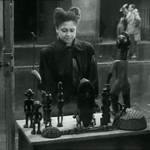 A still from the opening sequence of Resnais and Marker's film, Statues Also Die [Les statues meurent aussi]  (1953)