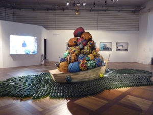 'Road to Exile' (2012), installation by Barthélémy Toguo. Image courtesy of the photographer, Pierre Mondain-Monval.