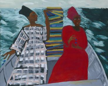 Between the Two my Heart is Balanced (1991), by Lubaina Himid MBE. Tate catalogue ref: T06947.