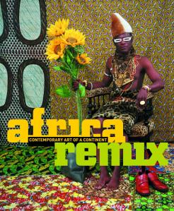 Artwork from the series 'Tati. Self-Portraits' (1997) by Samuel Fosso, used as the title image for the Africa Remix (2004) exhibition catalogue (Hayward Gallery, London).