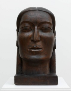 A photograph of the sculpture 'Midonz' (1937) by Jamaican-British artist Ronald Moody. Source: Tate Britain. © The estate of Ronald Moody