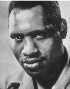 A photograph of American actor, singer, political activist  and philanthropist Paul Robeson (1898-1976)