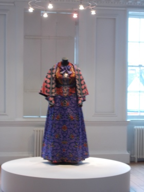A mannequin styled in batik fabrics by Yinka Shonibare MBE, on display in the William Morris Gallery. Photo: Carol Dixon.
