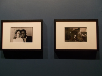 Exhibition view of, 'Notting Hill Couple (1967)  and The 'Pisshouse Pub (1969), by Charlie Phillips.