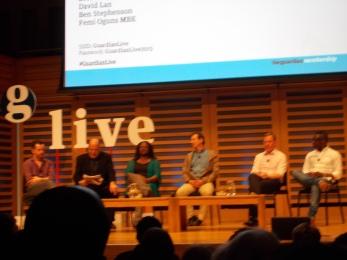 Contributors (from left to right): Ben Stephenson, Mark Lawson, Dreda Say Mitchell, David Lan, Chris Bryant, Femi Oguns.
