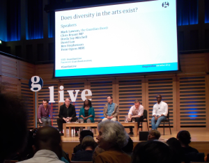 Guardian Live panel discussion on Diversity in the Arts - Kings Place, London (15/04/2015).