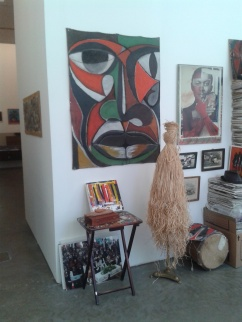Objects and artworks from Vanley Burke's archive.
