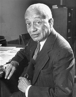 Photograph of the writer and philosopher Alain Locke (1885-1954), taken c. 1946. Photo credit: Alfred Eisenstaedt.