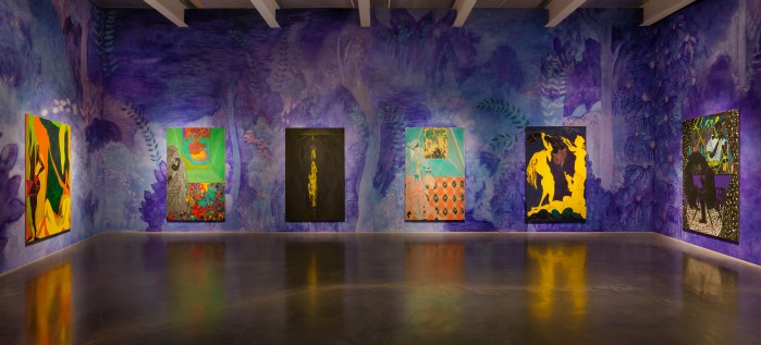 Installation view of the exhibition, Chris Ofili: Night and Day. Photo by Maris Hutchinson/EPW All artworks © Chris Ofili. Courtesy David Zwirner, New York/London . Source: http://artobserved.com