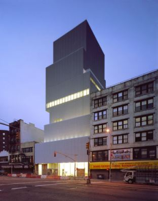 Photograph of the New Museum at 235 Bowery, New York.