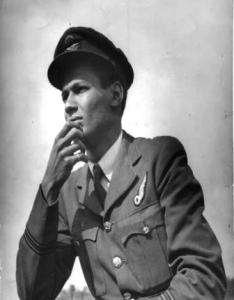 A photograph of RAF Flight Lieutenant Cy Grant.
