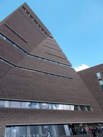 Tate Modern's new building, Switch House, designed by architects Herzog & de Meuron.