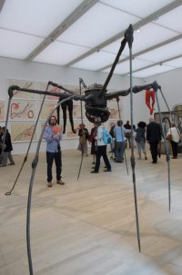 A spider sculpture by the French-American sculptor Louise Bourgeois (1911-2010)