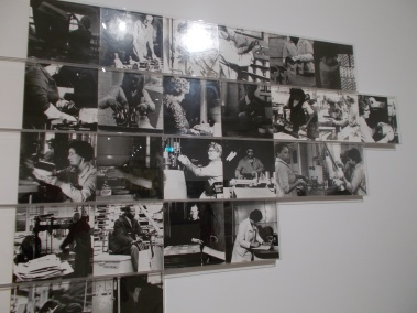 """Images from the installation """"Women and Work"""" 1973-75) by artists Margaret Harrison, Kay Hunt and Mary Kelly."""