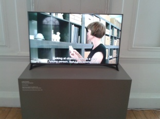 """Stll from the video """"Claire Twomey: Time Present and Time Past"""" (2016) shown on Level 1 of the William Morris Gallery"""