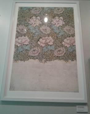 Design for Chrysanthemum (1877) by William Morris. This unfinished design is on display in Gallery 2 at the WMG (Walthamstow) and inspired Claire Twomey's 2016 installation. Photo: Carol Dixon