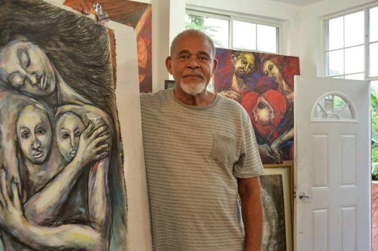 Cecil Cooper at his studio in November 2015 (photograph courtesy of Donnette Zacca)