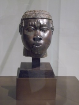 """""""Anthropomorphic head"""" (Benin, c. 14th -16th century), displayed in the Pavillon des Sessions at The Louvre. Photo: Carol Dixon"""