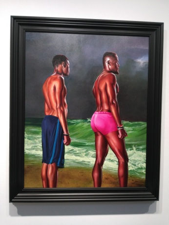 'Fishermen upon a Lee-Shore, in Squally Weather (Zakary Antoine and Nelson Noel)' (2017), by Kehinde Wiley. Photo: Carol Dixon