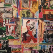 Collage-based installation '5000 Miles and 70 Years' by Dr Vanley Burke